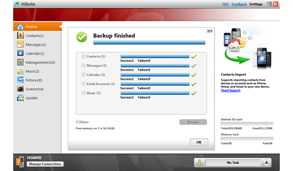 Huawei Ascend P6 - Software - How to make a backup of your device - Step 8