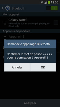 Samsung Galaxy Note III LTE - Bluetooth - Jumelage d