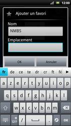 Sony Xperia Neo - Internet - Navigation sur Internet - Étape 9