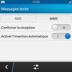 BlackBerry Q10 - MMS - Configuration manuelle - Étape 6