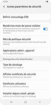 Samsung Galaxy S9 Plus - Android Pie - Sécurité - modifier SIM PIN - Étape 6