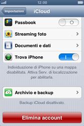 Apple iPhone 4S - Applicazioni - Configurazione del servizio Apple iCloud - Fase 9