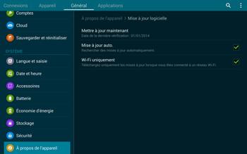 Samsung T805 Galaxy Tab S - Logiciels - Installation de mises à jour - Étape 8