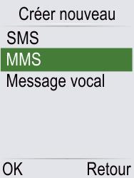 Doro Phone Easy 621 - Contact, Appels, SMS/MMS - Envoyer un MMS - Étape 5