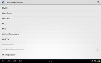 Samsung Galaxy Tab 2 10.1 - Internet und Datenroaming - Manuelle Konfiguration - Schritt 14