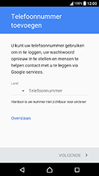 Sony Xperia X Compact (F5321) - Applicaties - Account aanmaken - Stap 14