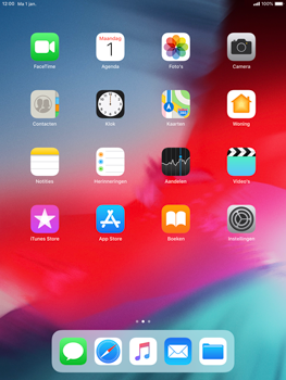 Apple iPad 9.7 (2018) iOS12 - Handleiding - download handleiding - Stap 1