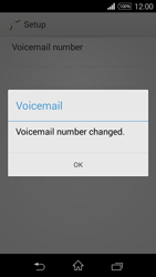 Sony D2203 Xperia E3 - Voicemail - Manual configuration - Step 9