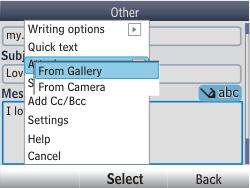 Nokia Asha 302 - E-mail - Sending emails - Step 13
