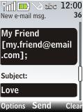 Nokia 2720 fold - E-mail - Sending emails - Step 8