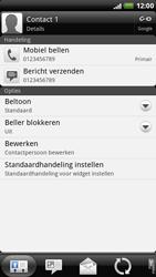HTC X515m EVO 3D - contacten, foto