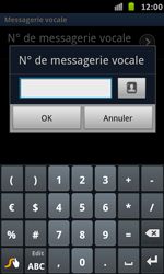 Samsung I9070 Galaxy S Advance - Messagerie vocale - Configuration manuelle - Étape 7