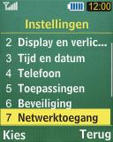 Samsung C3050 - netwerk en bereik - gebruik in binnen- en buitenland - stap 4