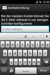 Sony Xperia E - E-Mail - Konto einrichten - Schritt 5