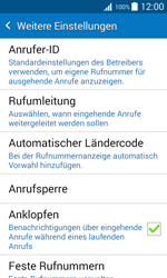 Samsung Galaxy J1 - Anrufe - Rufumleitungen setzen und löschen - 8 / 13