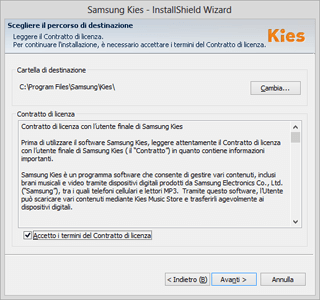Samsung Galaxy S Advance - Software - Installazione del software di sincronizzazione PC - Fase 5