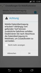 Sony Xperia Z3 - Internet und Datenroaming - Prüfen, ob Datenkonnektivität aktiviert ist - Schritt 7