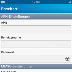 BlackBerry Q10 - MMS - Manuelle Konfiguration - 1 / 1