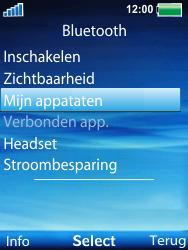 Sony Ericsson W100i Spiro - Bluetooth - headset, carkit verbinding - Stap 5