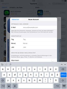 Apple iPad Mini 4 - Apps - Konto anlegen und einrichten - 24 / 35