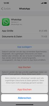 Apple iPhone XS - iOS 13 - Apps - Eine App deinstallieren - Schritt 7