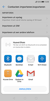 Huawei Mate 10 Lite - Contactgegevens overzetten - delen via Bluetooth - Stap 8