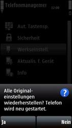 Nokia 5800 Xpress Music - Fehlerbehebung - Handy zurücksetzen - Schritt 9