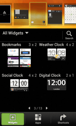 HTC Desire X - Getting started - Installing widgets and applications on your start screen - Step 4