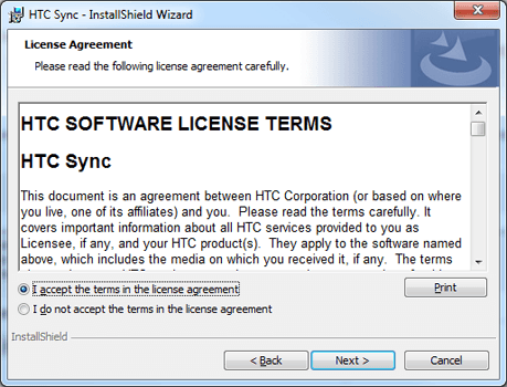 HTC Desire X - Software - Installing PC synchronisation software - Step 8