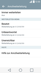 LG Leon 3G - Anrufe - Rufumleitungen setzen und löschen - 2 / 2