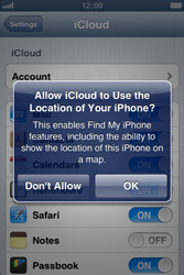 Apple iPhone 4 - Applications - Configuring the Apple iCloud Service - Step 7