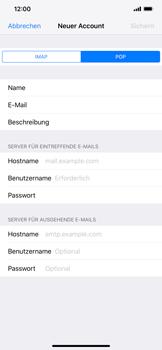 Apple iPhone XS Max - E-Mail - Manuelle Konfiguration - Schritt 11