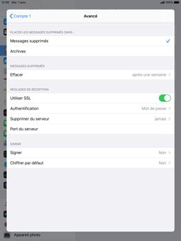 Apple iPad 9.7 (2018) - iPadOS 13 - E-mail - configuration manuelle - Étape 22