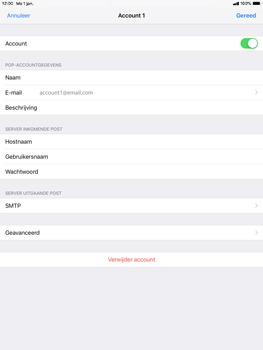 Apple ipad-9-7-ios-12 - E-mail - Account instellen (POP3 zonder SMTP-verificatie) - Stap 24