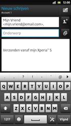 Sony LT26i Xperia S - E-mail - E-mail versturen - Stap 7