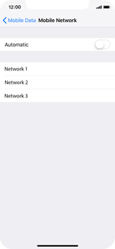 Apple iPhone X - iOS 12 - Network - Manual network selection - Step 6