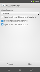 Sony Xperia Z1 Compact - E-mail - manual configuration - Step 16