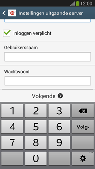 Samsung N9005 Galaxy Note III LTE - E-mail - Account instellen (IMAP met SMTP-verificatie) - Stap 14