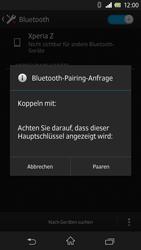 Sony Xperia Z - Bluetooth - Geräte koppeln - Schritt 9
