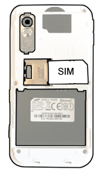 Samsung S5230 Star - SIM-Karte - Einlegen - Schritt 3