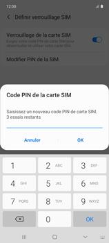 Samsung Galaxy A51 5G - Sécuriser votre mobile - Personnaliser le code PIN de votre carte SIM - Étape 9