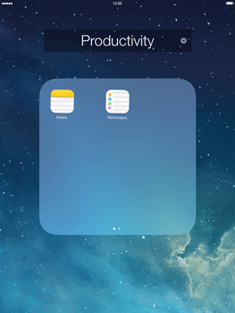 Apple iPad Retina iOS 7 - Getting started - Personalising your Start screen - Step 4