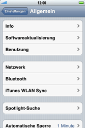 Apple iPhone 3GS - Ausland - Auslandskosten vermeiden - Schritt 6