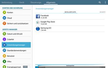 Samsung T535 Galaxy Tab 4 10.1 - Apps - Eine App deinstallieren - Schritt 6