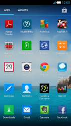 Alcatel One Touch Idol S - Getting started - Installing widgets and applications on your start screen - Step 4