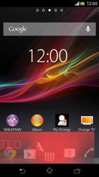 Sony Xperia V - Operazioni iniziali - Installazione di widget e applicazioni nella schermata iniziale - Fase 7