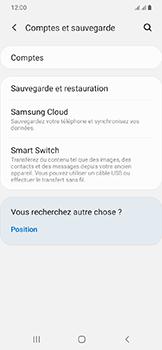 Samsung Galaxy A20e - Données - créer une sauvegarde avec votre compte - Étape 5