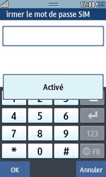 Samsung Wave 723 - Sécuriser votre mobile - Personnaliser le code PIN de votre carte SIM - Étape 8