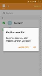 Samsung Galaxy S6 - Contacten en data - Contacten kopiëren van toestel naar SIM - Stap 12