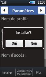 Samsung S5620 Monte - Internet - configuration automatique - Étape 6